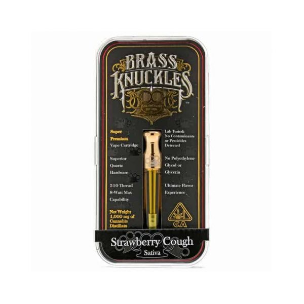 Strawberry Cough Brass Knuckles Cartridge